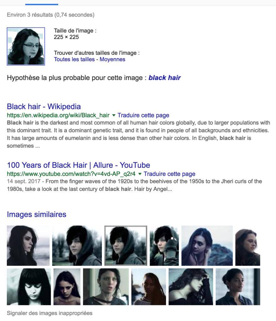 Anais Guilet black hair